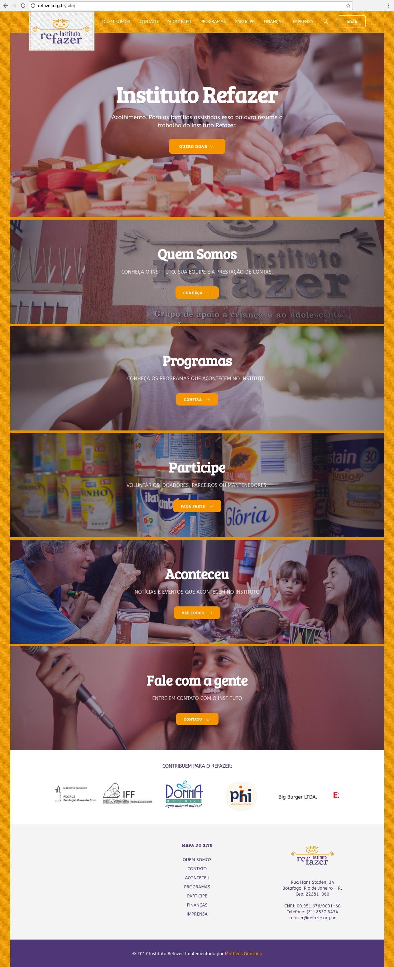Instituto Refazer por Venda Consultoria de Design e Marketing para Insituições e Terceiro Setor