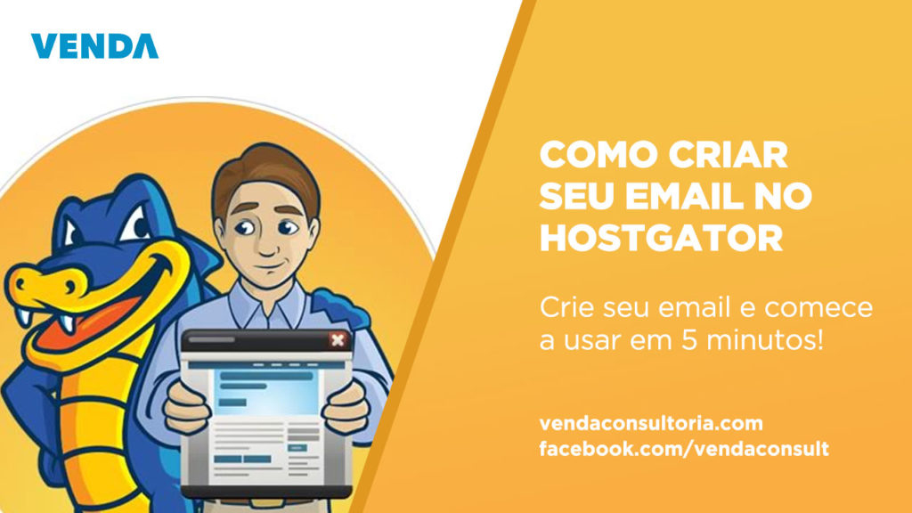 Como criar email na hospedagem da Hostgator? Por Venda Consultoria