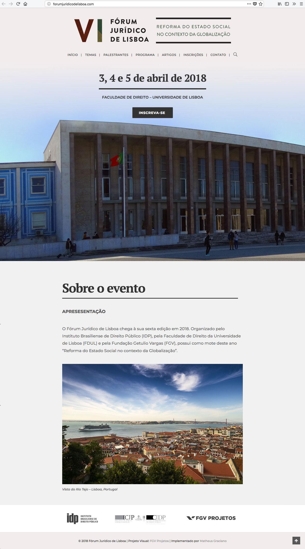 VI Fórum Jurídico de Lisboa foi realizado em 2018