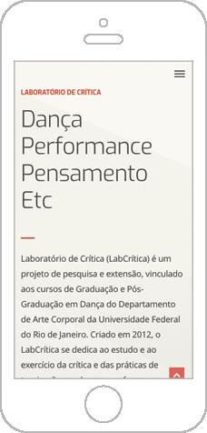 LabCrítica – Site do Laboratório de Crítica do Departamento de Dança da UFRJ