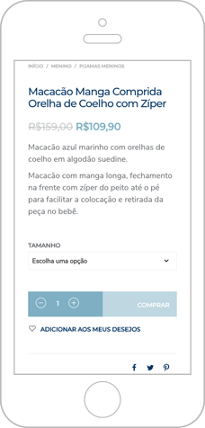 Site Responsivo para loja online de Pijamas Infantis