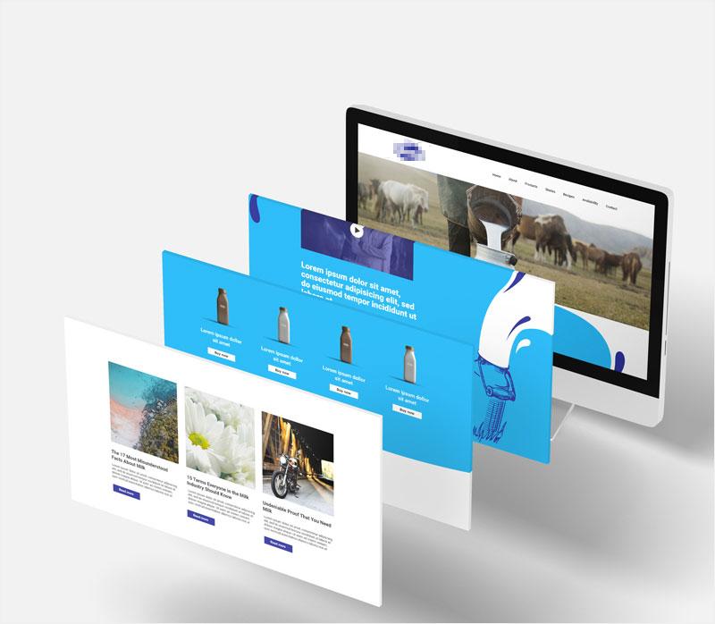 Um site simples tem diferentes camadas de conteúdo