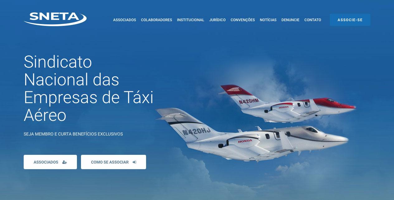 SNETA é o Sindicato Nacional das Empresas de Táxi Aéreo