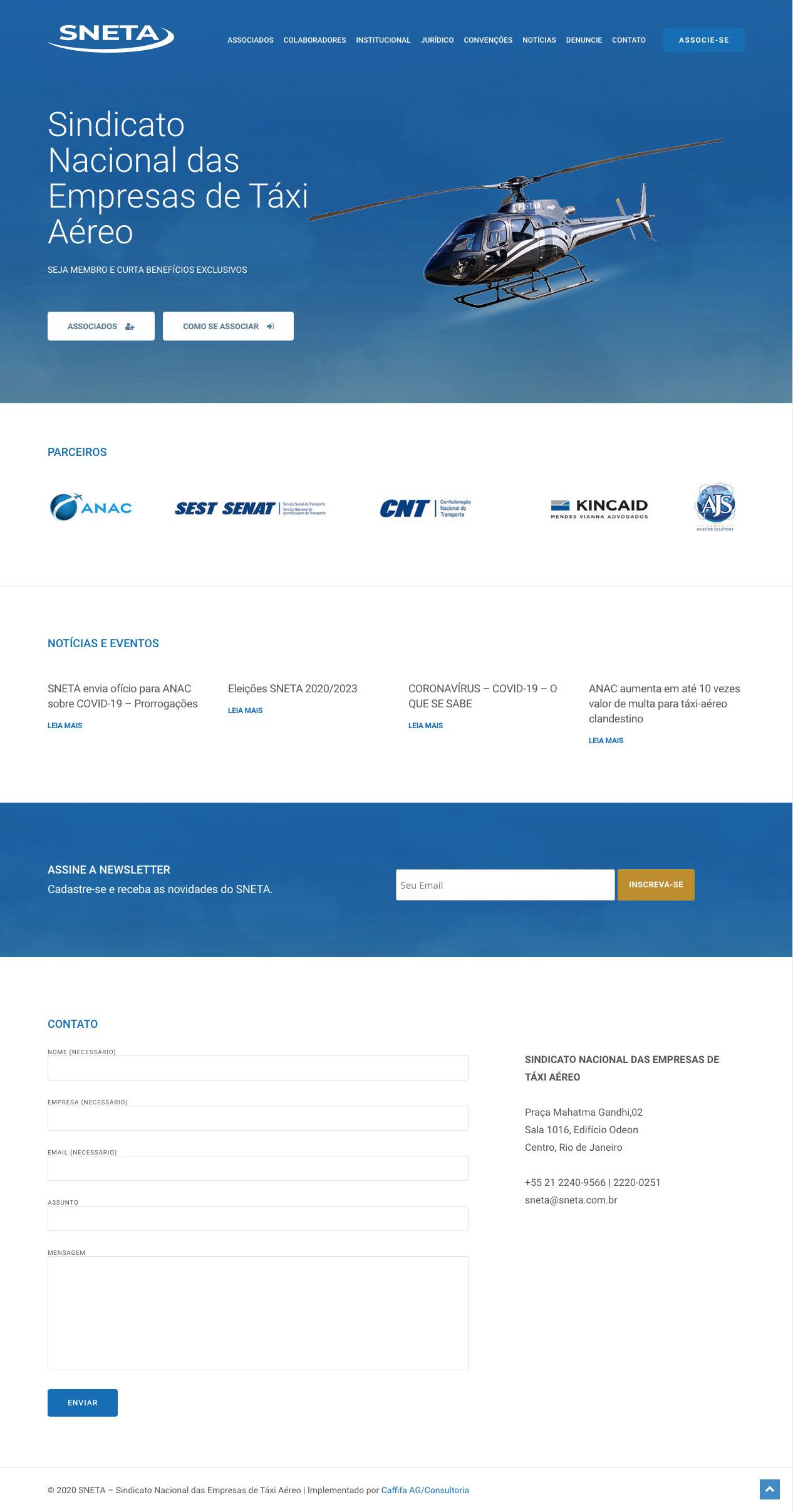 Site do Sindicato Nacional das Empresas de Táxi Aéreo
