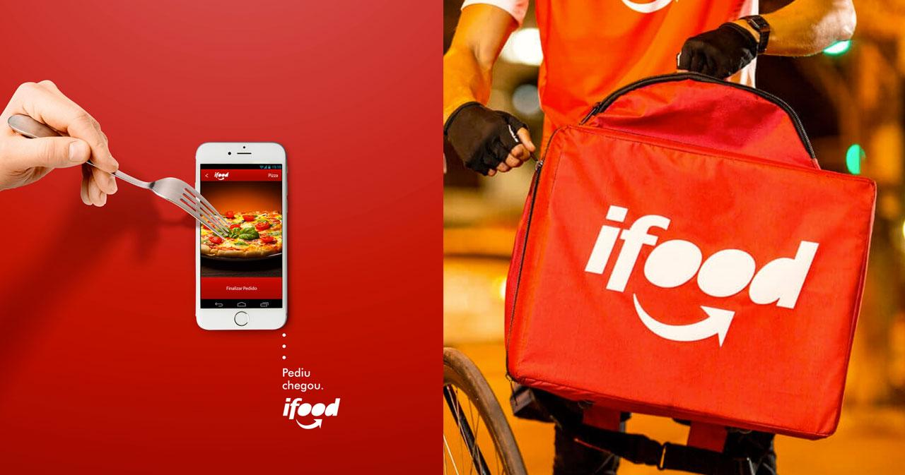 """O que é identidade visual do iFood senão o seu vermelho e o """"sorriso"""" da seta no logotipo?"""